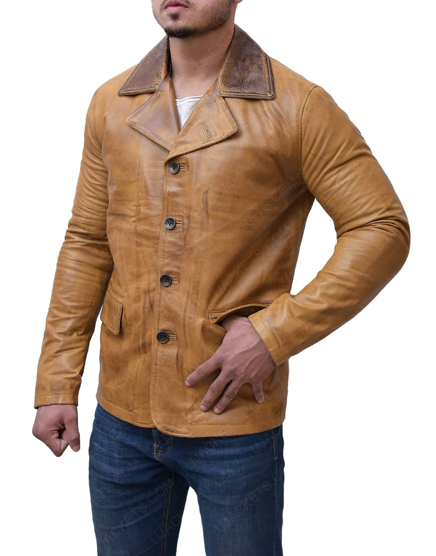 Brown Red Dead Redemption 2 BrownLeather Jacket