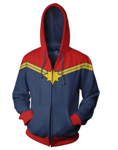 Carol Danvers Captain Marvel Leather Hoodie
