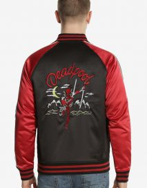 souvenir deadpool varsity jacket