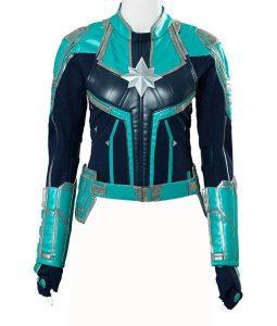 Captain Marvel Brie Larsons Carol Danvers Leather Jacket
