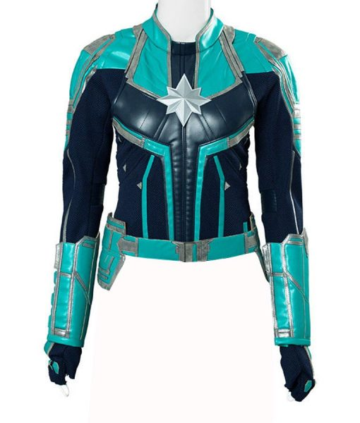Captain Marvel Brie Larsons Carol Danvers Leather Jacket