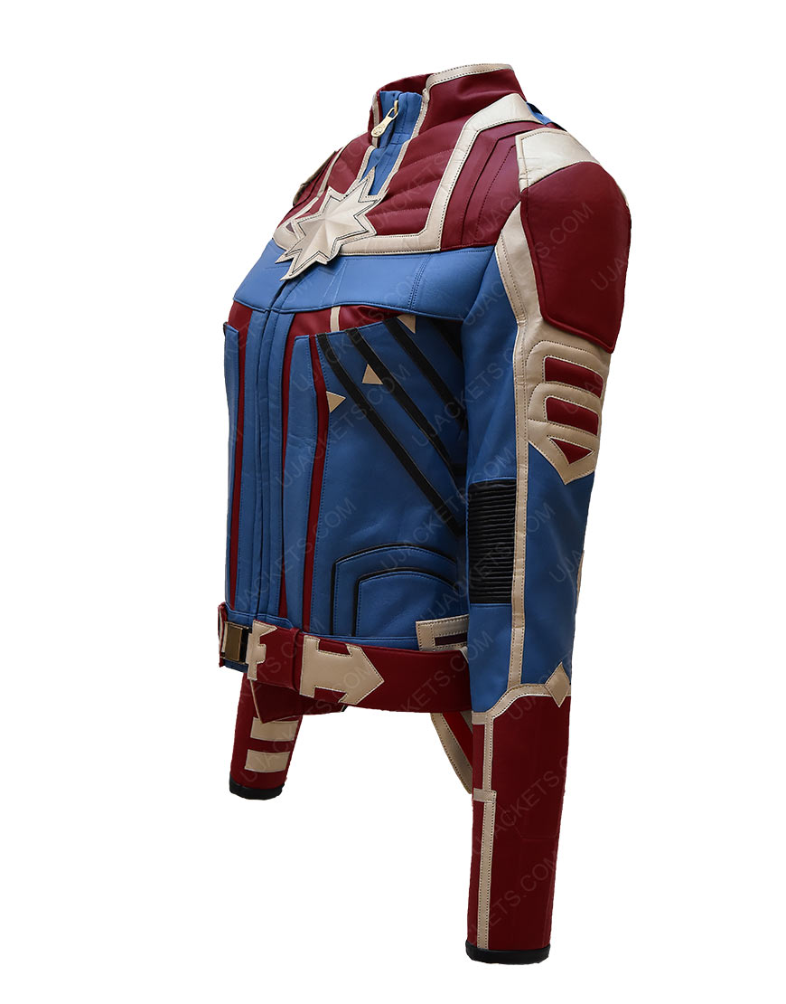 Captain Marvel Carol Danvers Classic Red And Blue Costume Jacket
