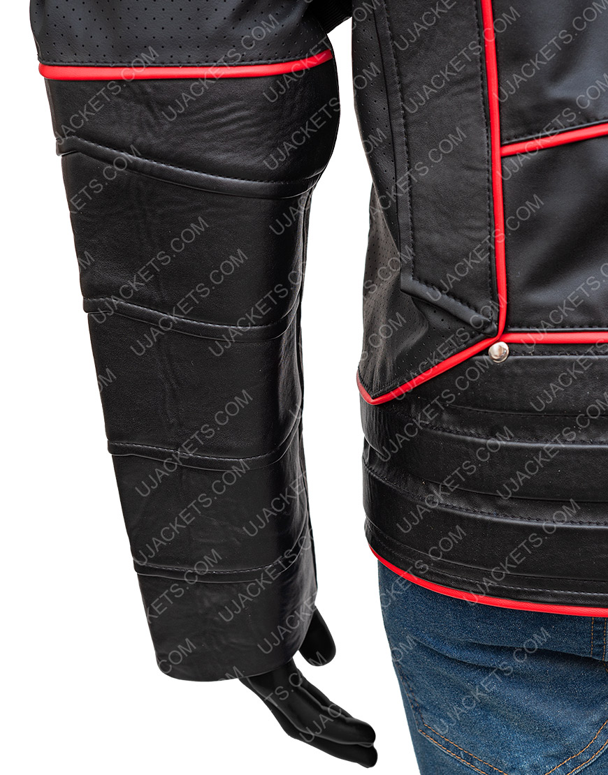 Crisis On Earth X Dark Arrow Leather Jacket With Quiver