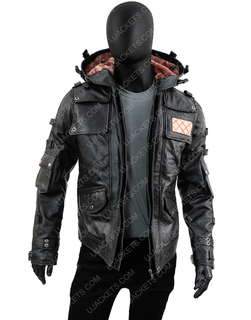 Playerunknowns Battlegrounds Black Leather Jacket