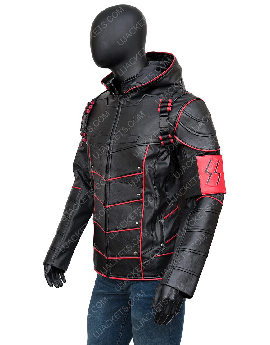 Stephen Amell Arrow Crisis On Earth X Dark Arrow Hooded Jacket