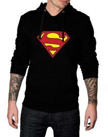 superman black hoodie