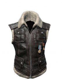 pubg sleeveless leather jacket
