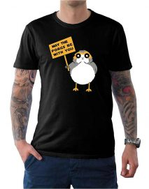 may the porgs be with you t shirt