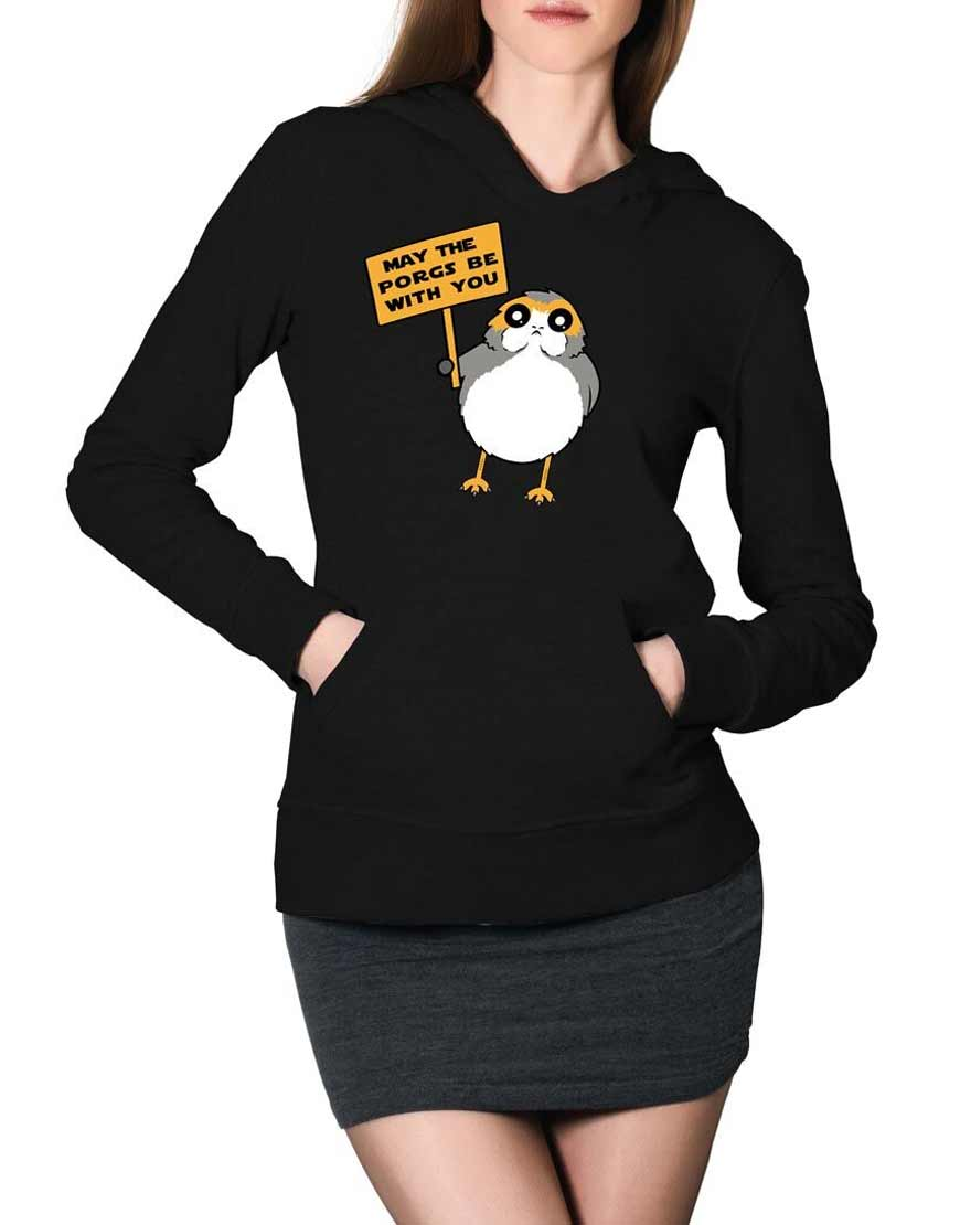may the porg be with you pullover hoodie