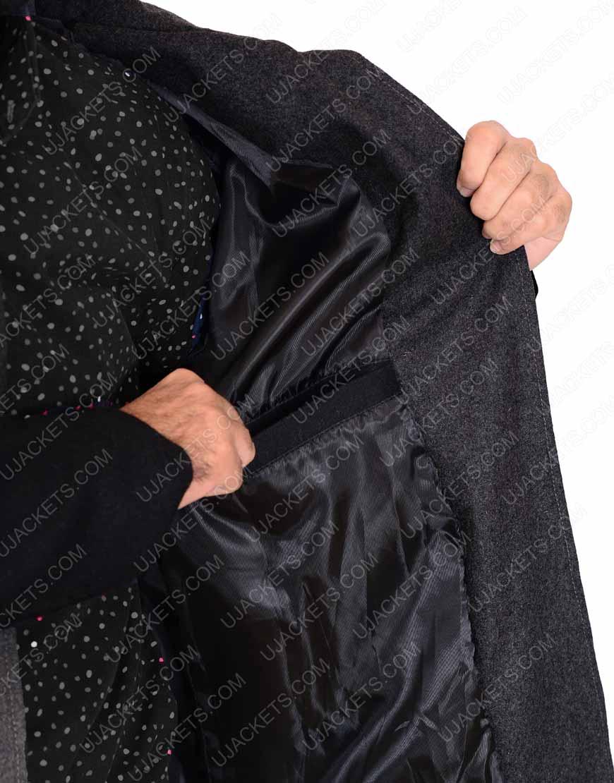 Joel Kinnaman black trench Coat
