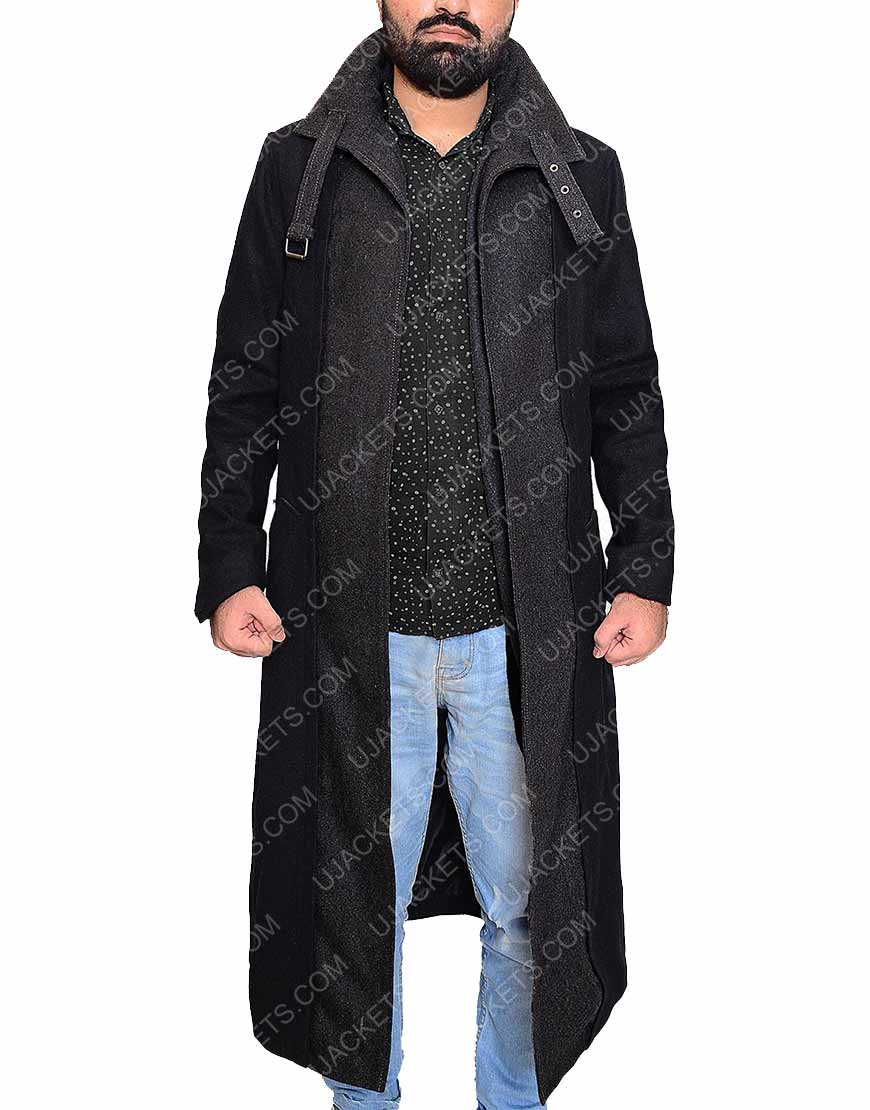 Takeshi Kovacs Black wool coat
