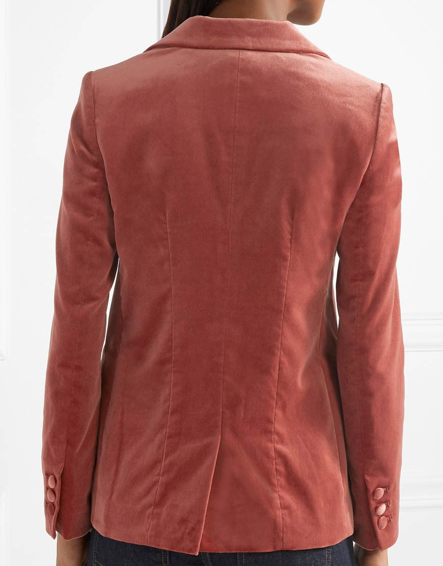 Zoey Johnson Velvet Blazer