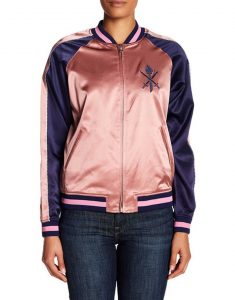 zoey johnson silk bomber jacket