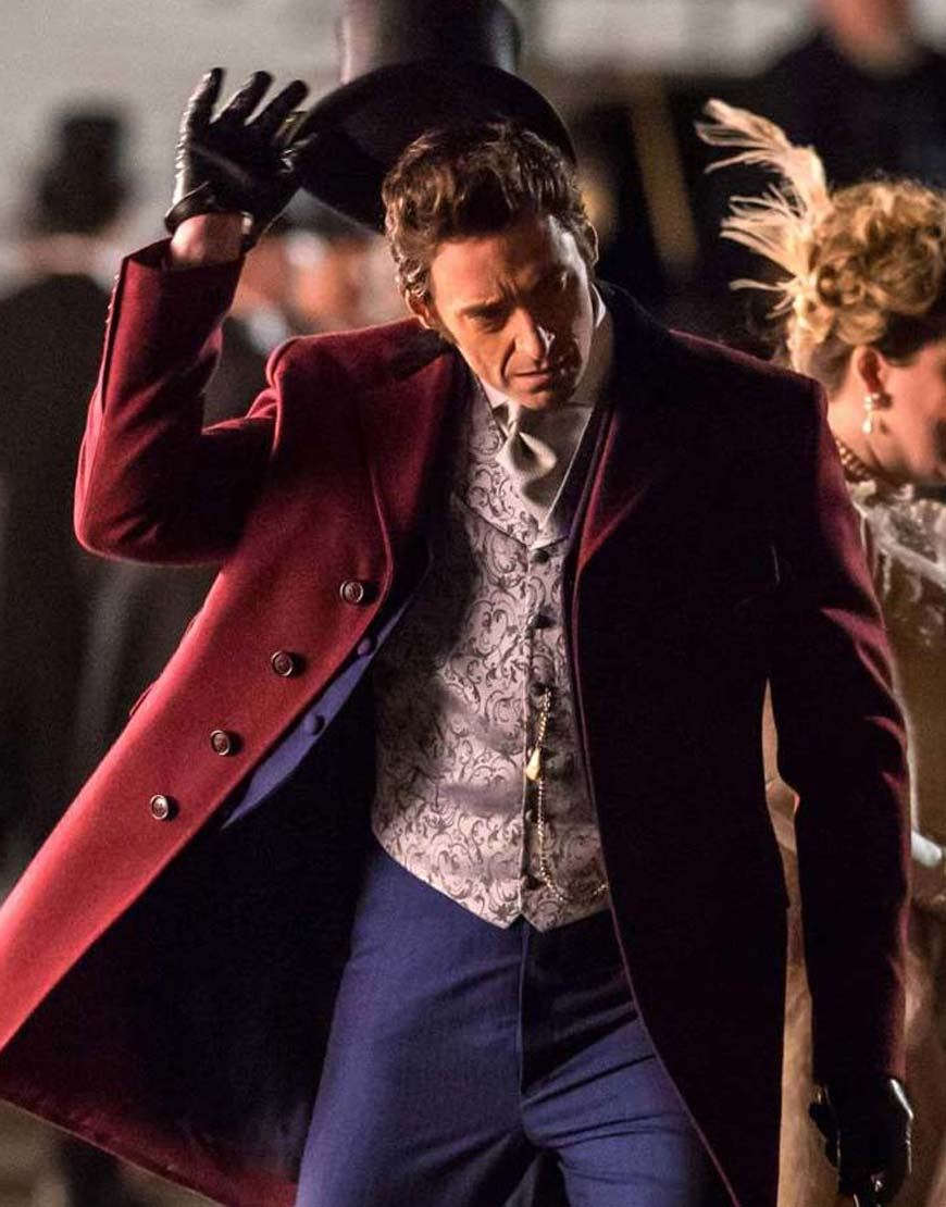 The Greatest Showman Red Wool Coat