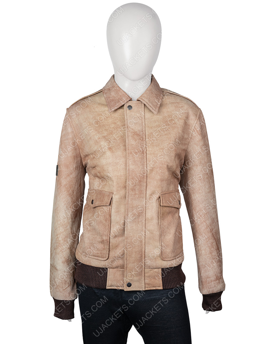 Jessica Barden Alyssa The End of the Fing World Distressed Leather Jacket