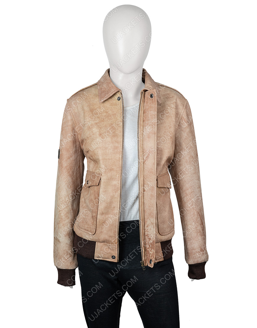 Jessica Barden Alyssa The End of the Fing World Leather Jacket