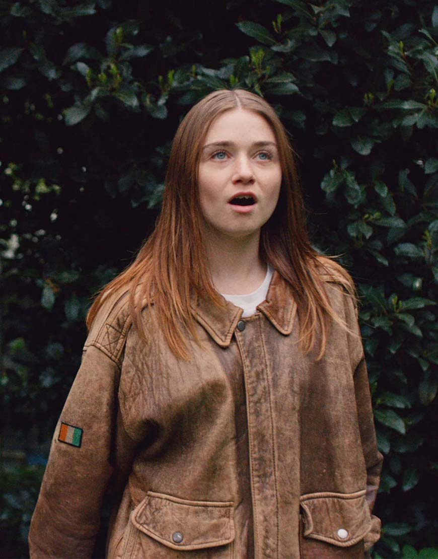 jessica barden the end of the f***ing world leather jacket
