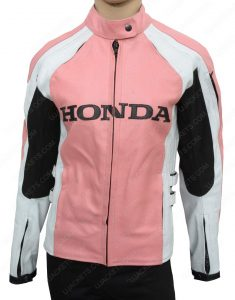 womens pink honda jacket