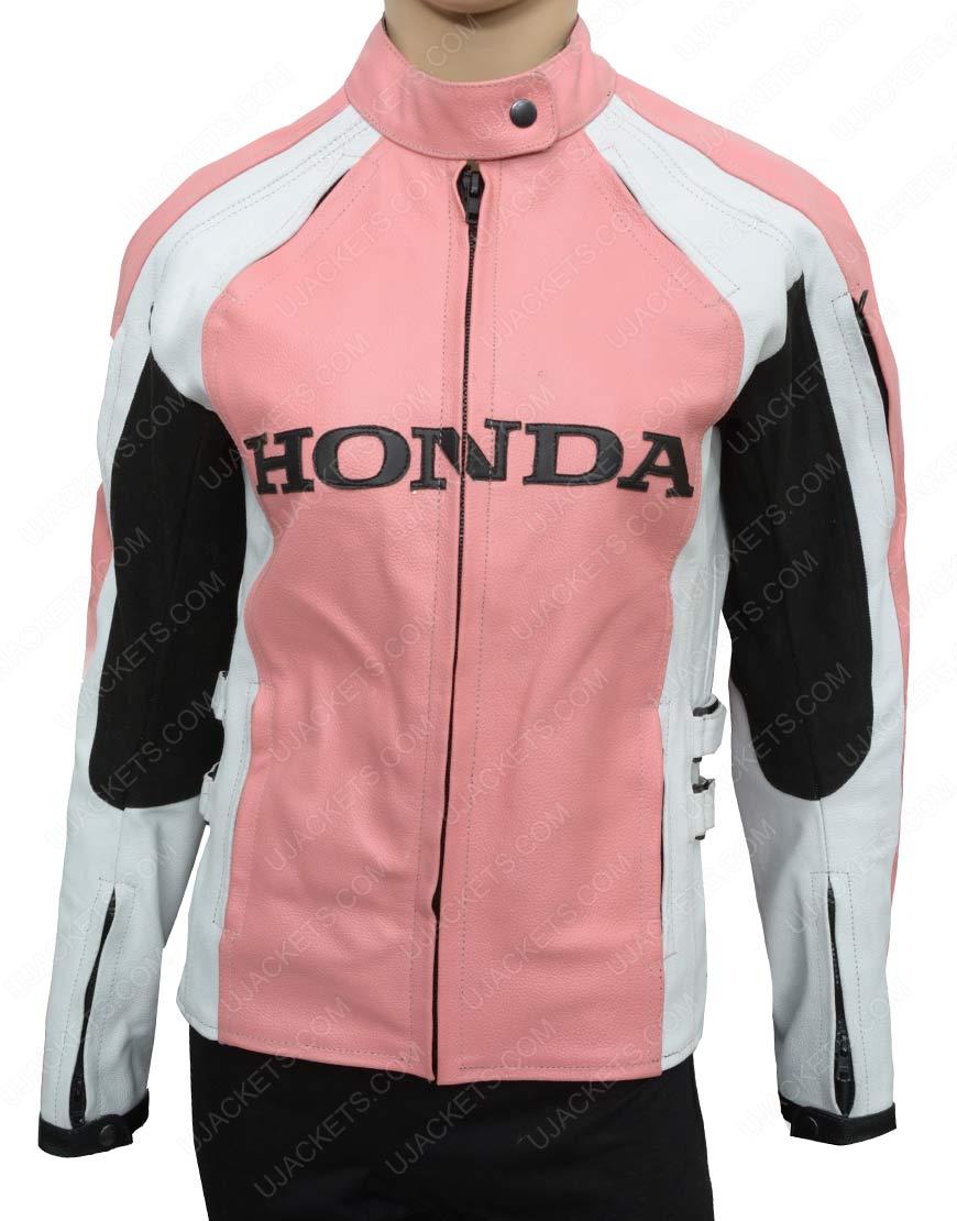 womens pink honda jacket