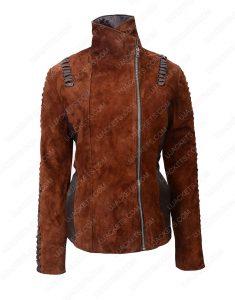 western womens suede biker jacket