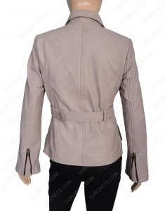 Womens Four Pocket leather Coat