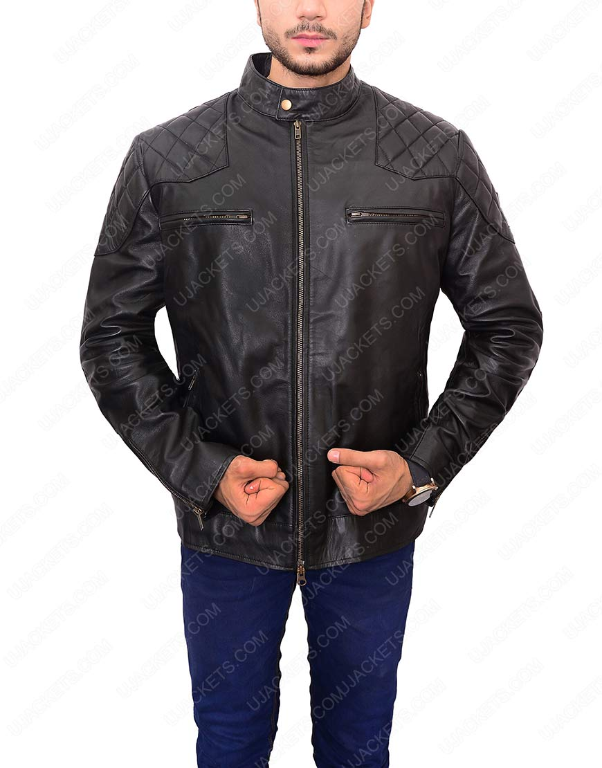 david beckham motorcycle leather jacket