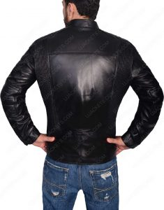 Slim Fit Cafe Racer black Jacket