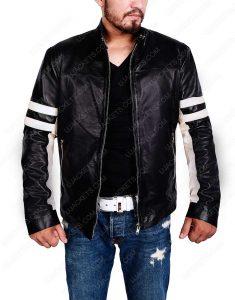 Mens Black Cafe Racer Retro Jacket