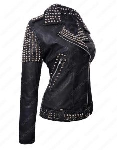 Britney Spears Till The World Ends Black Studded Leather Jacket