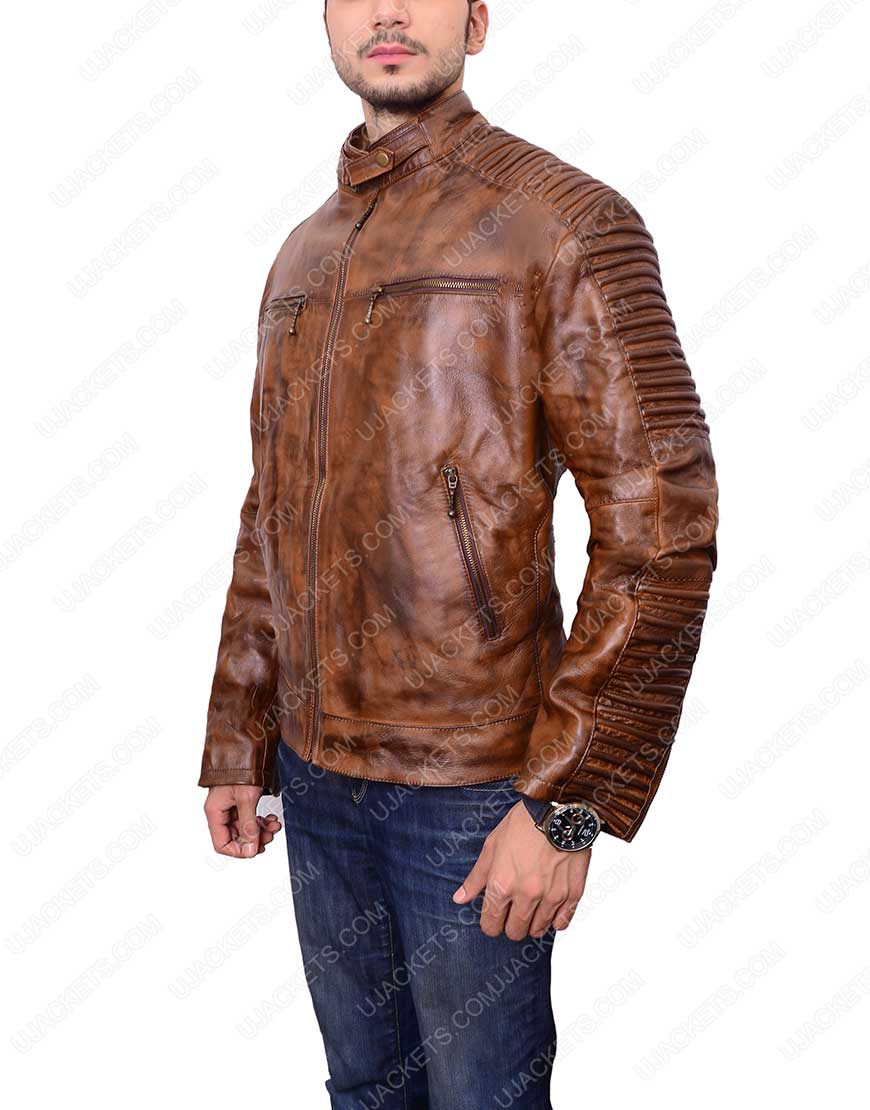 mens-brown-bikers-cafe-racer-jacket