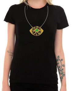 Dr Strange Eye Of Agamotto Necklace women Shirt