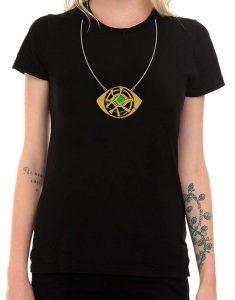 Dr Strange Eye Of Agamotto Necklace women Shirt