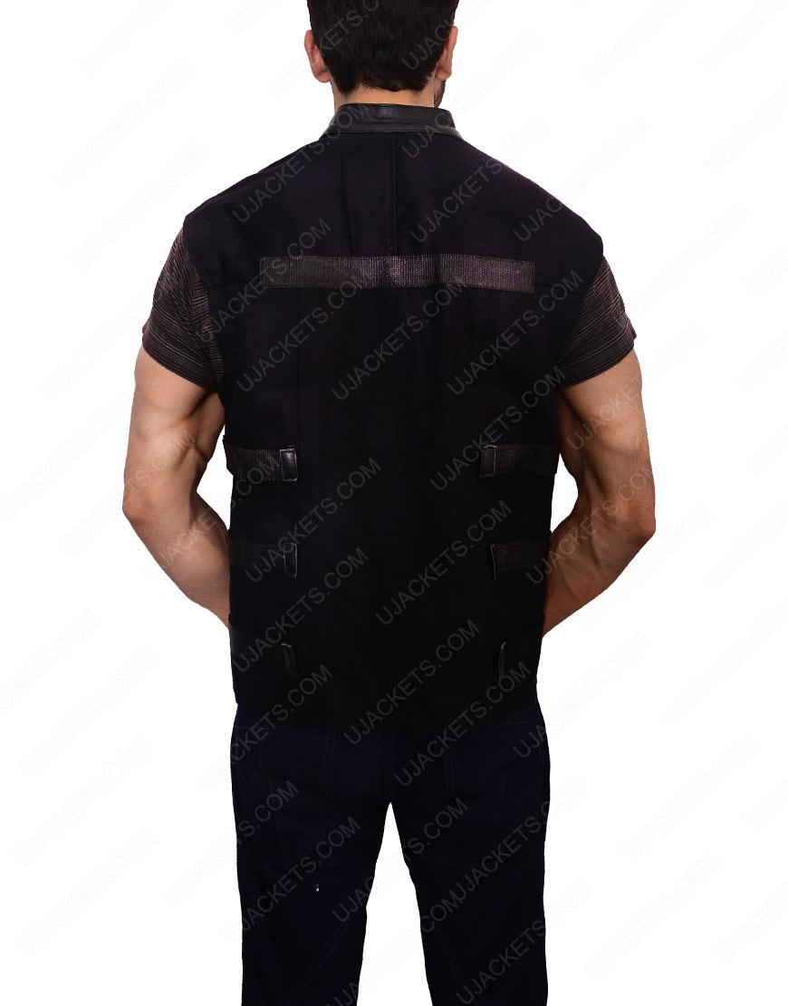 jon bernthal punisher leather vest