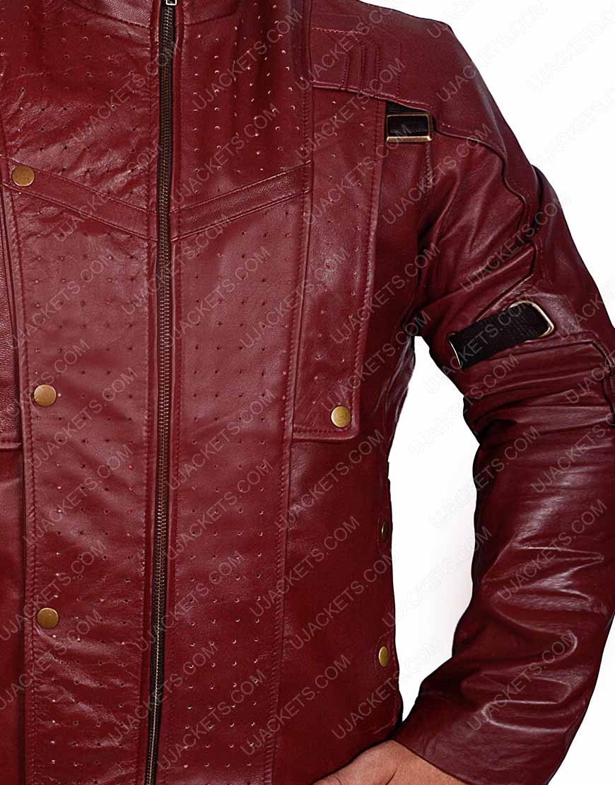 star lord brown leather jacket