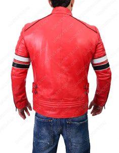 cafe racer mens red jacket