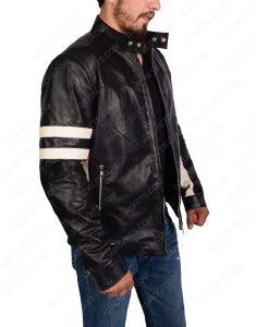 mens black biker jacket
