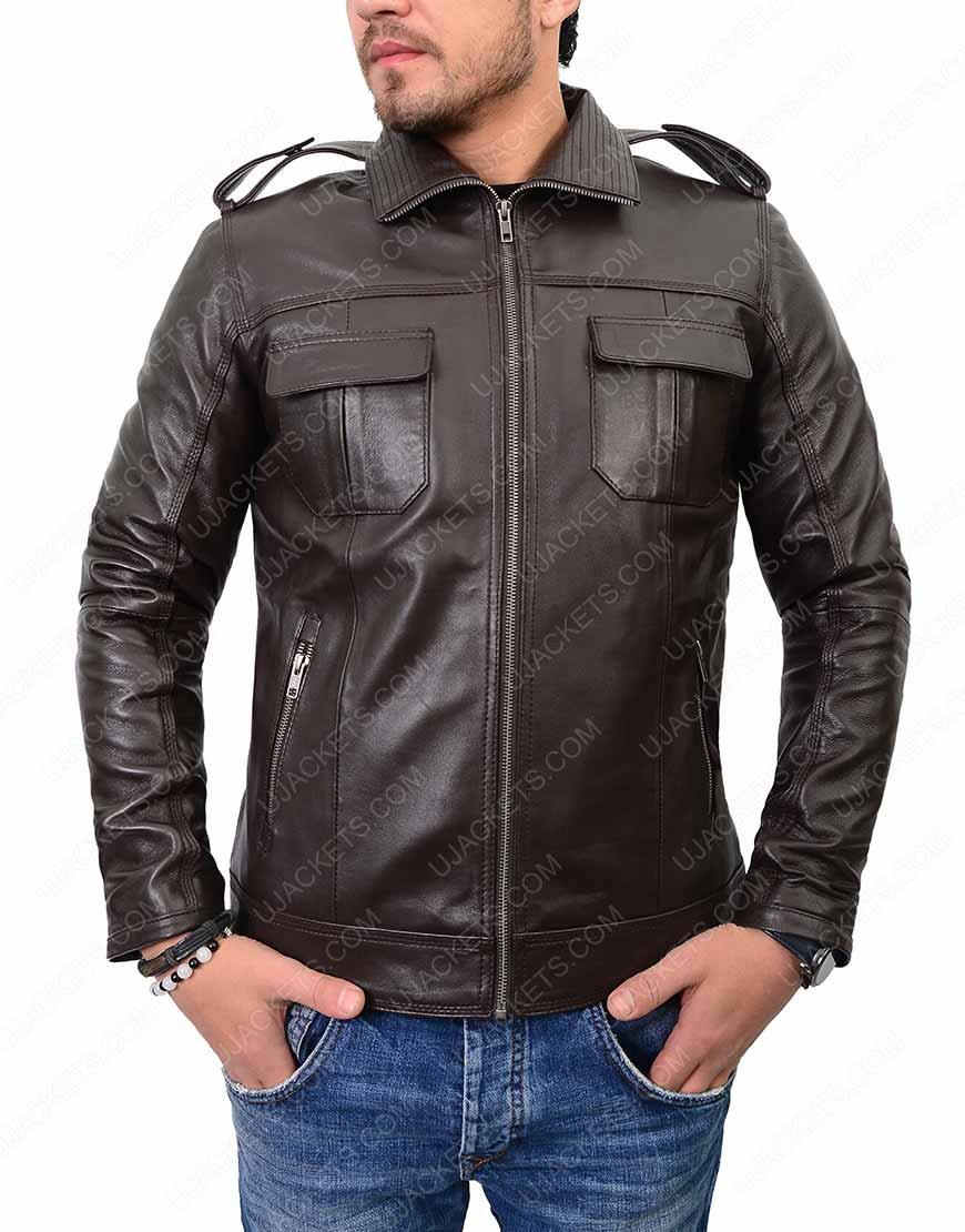 mens-casual-dark-brown-jacket