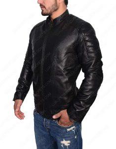 Slim Fit Cafe Racer Leather Jacket