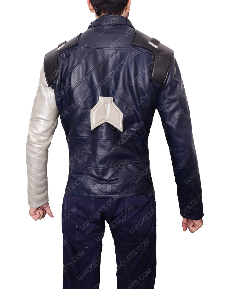 bucky barnes infinity war black leather jacket
