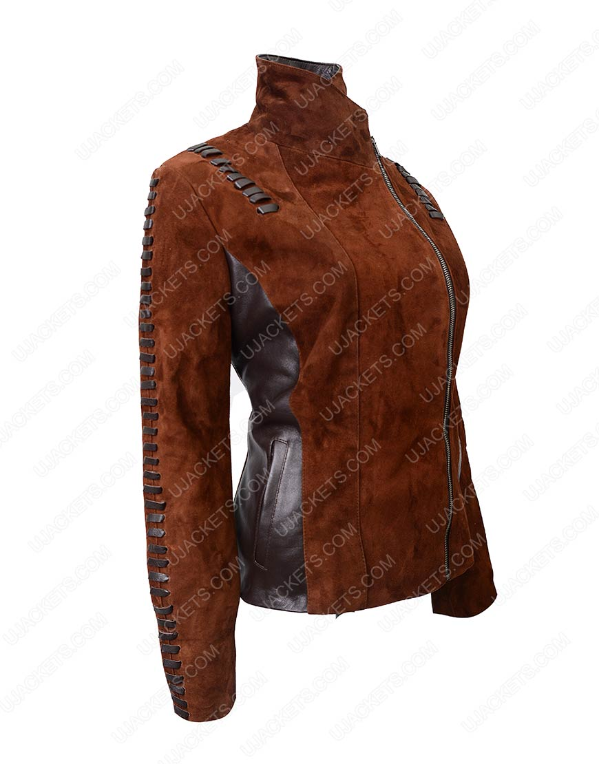 womens western suede leather motorcycle jacket