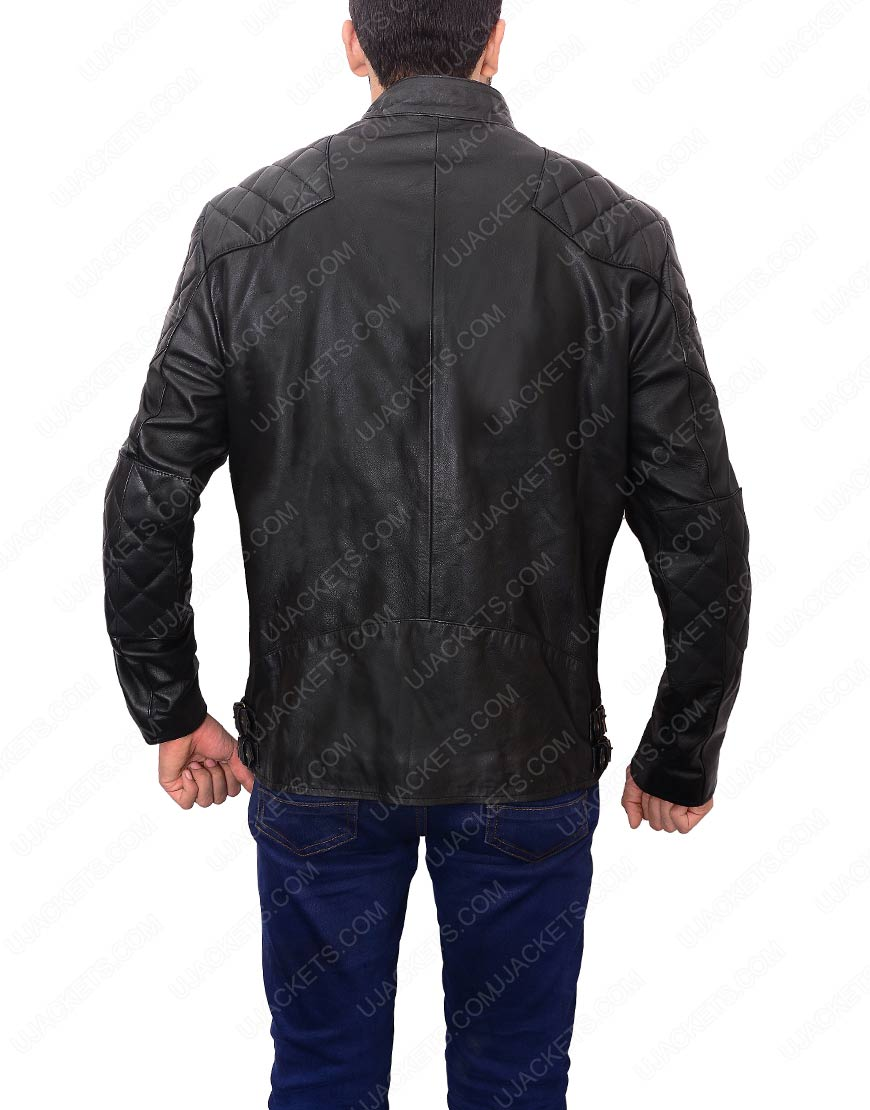 david beckham biker leatherjacket
