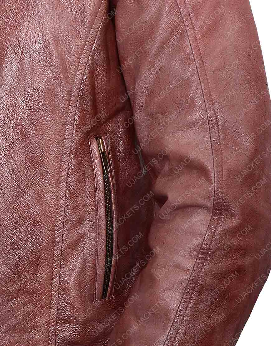 Andrew Foster Scott Eastwood Brown Leather Jacket