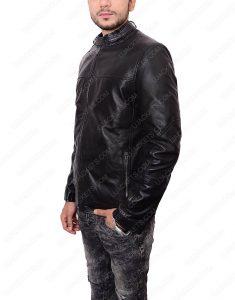 Black Zayn Malik Slim Fit Leather Jacket