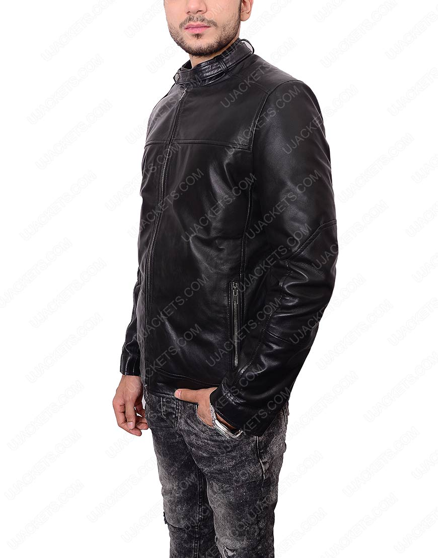 Black Zayn Malik Slim Fit Leather Jacket