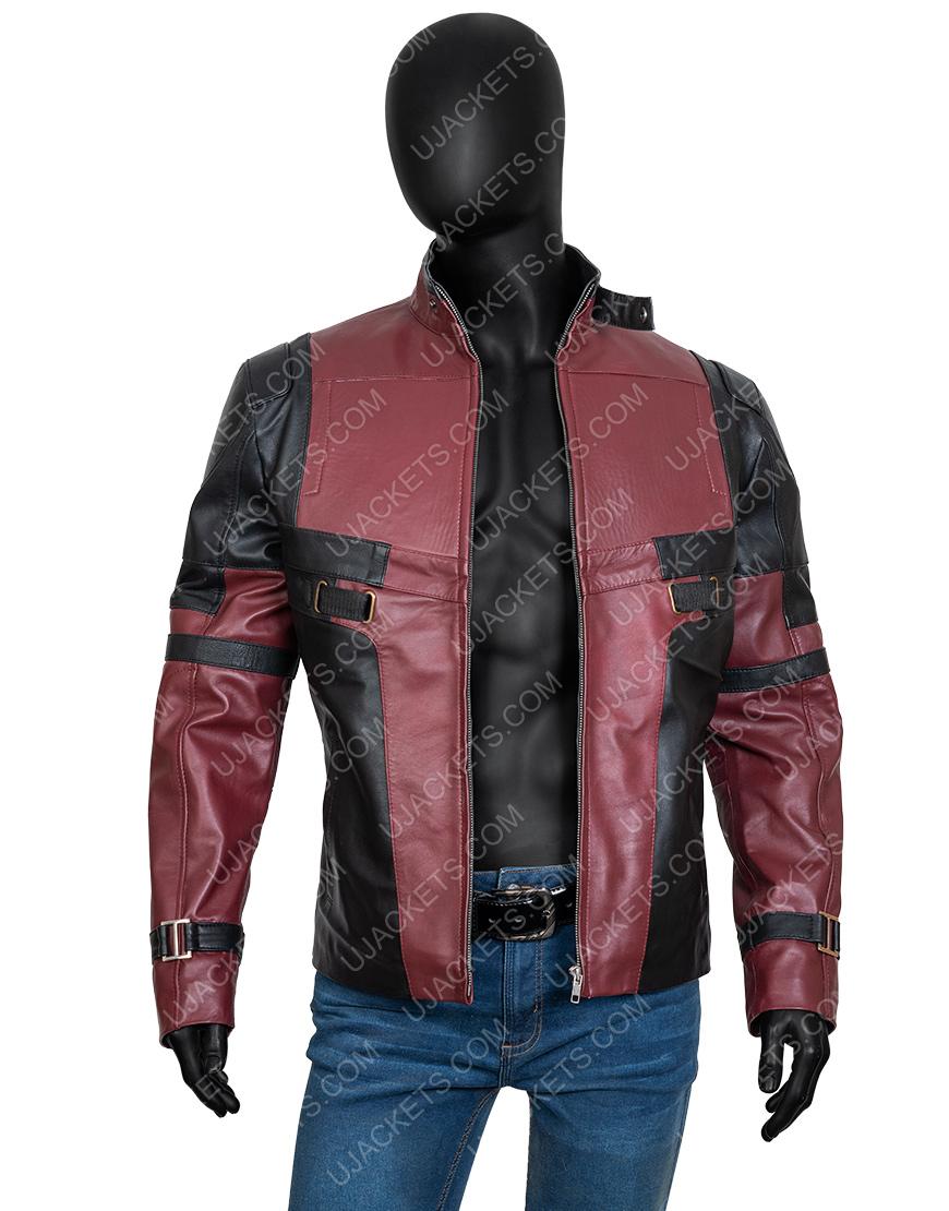 Ryan Reynolds Deadpool 2 Motorcycle Leather Jacket