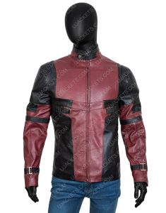 Wade Wilson Red And Black Deadpool 2 Leather Jacket