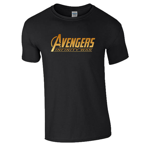 Avengers Infinity War Black Shirt