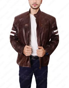 joe rocket 92 brown leather jacket