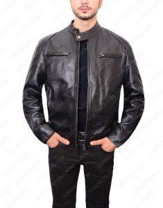 Mens Black Double Front Pocket