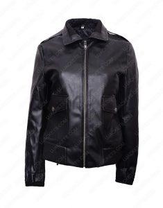 womens double pocket jacket
